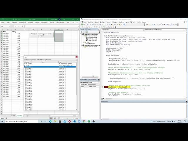 258: Excel-VBA: Array-Power - Fehlende Nummern bei Nummernkreisen mit alphanumerischem Inhalt + Zahl