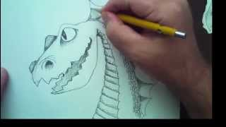 How To Draw The Bubble Blowing Dragon with Mark Kistler