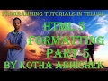 html formatting in telugu part5 in html bold italic underline in html