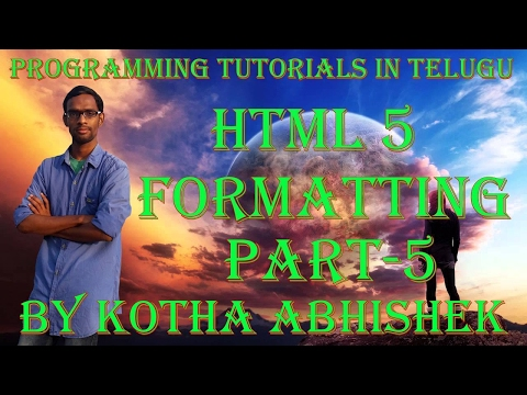 Html Formatting In Telugu Part5 In Html Bold Italic Underline In Html