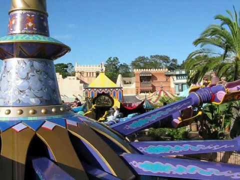 Magic kingdom aladdin39s magic carpet ride youtube for Aladdin carpet ride magic kingdom