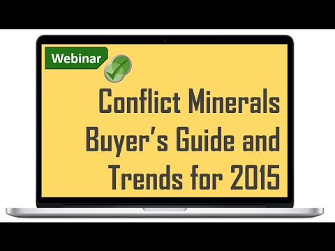 Conflict Minerals Automation Buyer's Guide and Trends for 2015