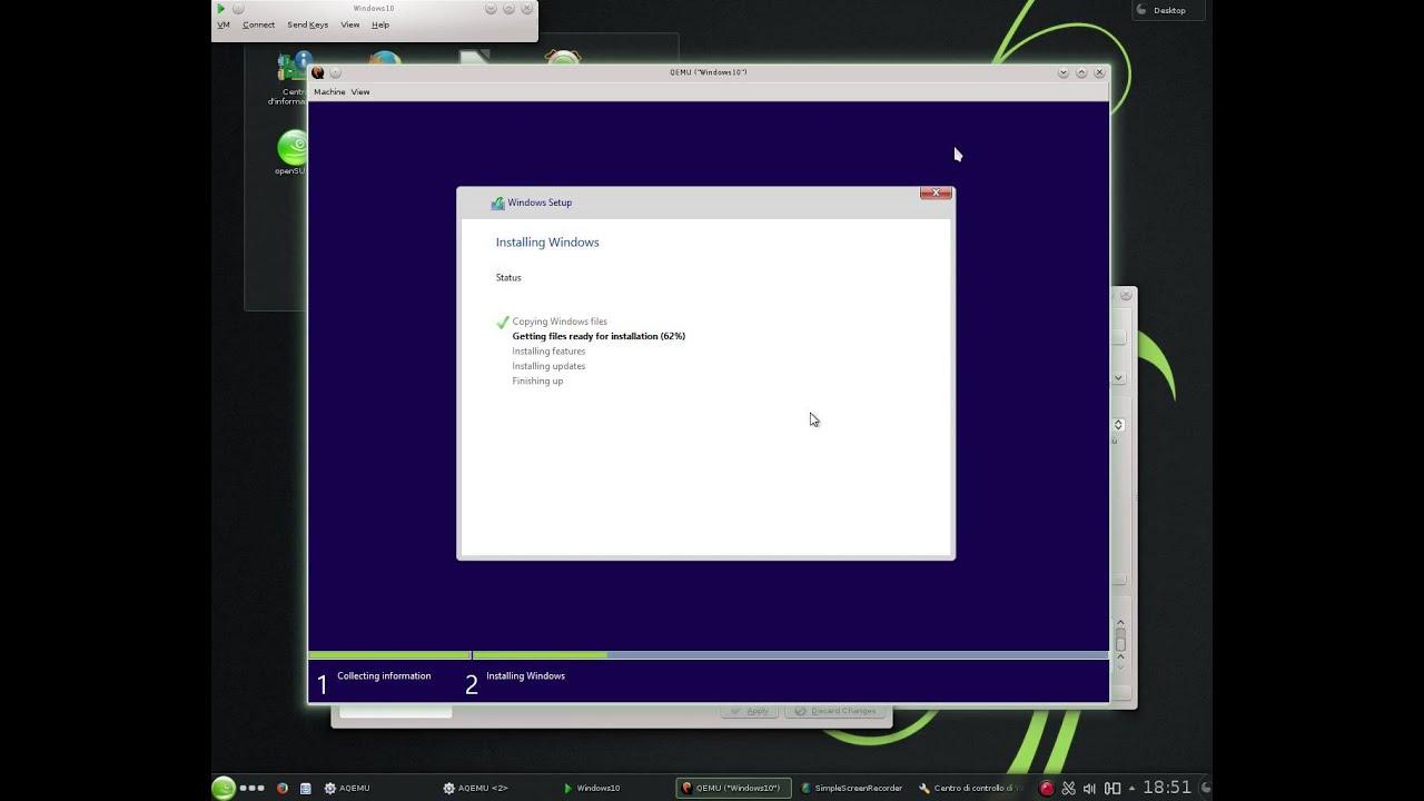 How install windows 10 on qemu