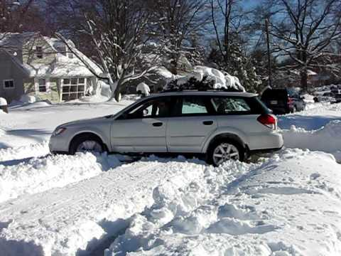 """Forester Vs Outback >> My 09 Subaru Outback """"stuck"""" in snow - YouTube"""