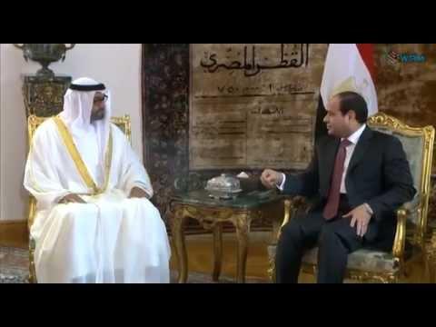 محمد بن زايد يلتقي الرئيس السيسي .