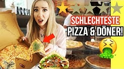 ESSE SCHLIMMSTEN DÖNER PIZZA POMMES in meiner STADT - Challenge
