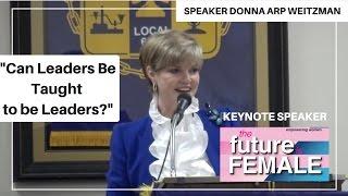 Donna Arp Weitzman speaking at Dallas County Democratic Party Future is Female Symposium