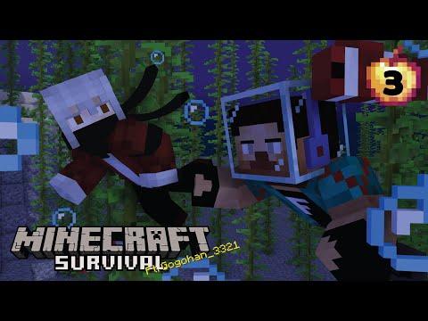 Ada Sesuatu di Dalam Laut - Minecraft Survival Indonesia #3 -Ft.Gogohan_3321