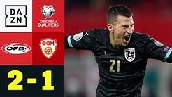 Österreich fährt zur EM dank Lainer und Alaba: Österreich - Nordmazedonien 2:1 | EM-Quali | DAZN