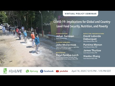Virtual Event (April 14) | COVID-19: Implications for Global and Country-Level Food Security...