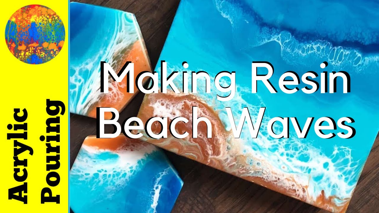How to Use Resin in Acrylic Pouring to Create a Lacing Effect and Paint  Waves
