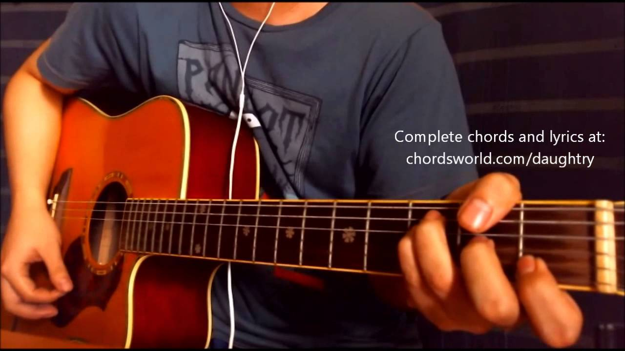 Waiting For Superman Chords By Daughtry How To Play Chordsworld