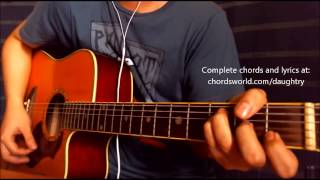 Waiting For Superman Chords by Daughtry - How To Play - chordsworld.com