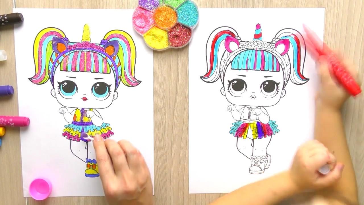 КУКЛА ЛОЛ Как Поиграть и Раскрасить Куклу Раскраски для ...