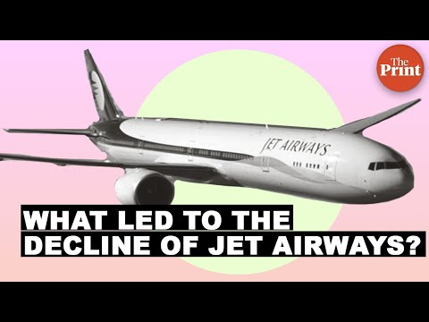 What led to the decline of Jet Airways?