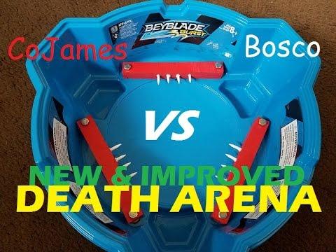 Beyblade Burst battle.  Death Arena, New & Improved!