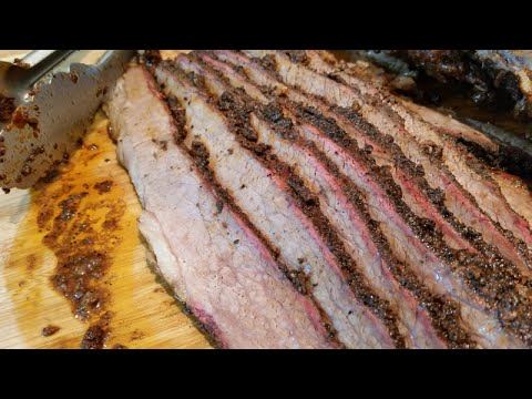 whole brisket on the traeger pellet grill youtube