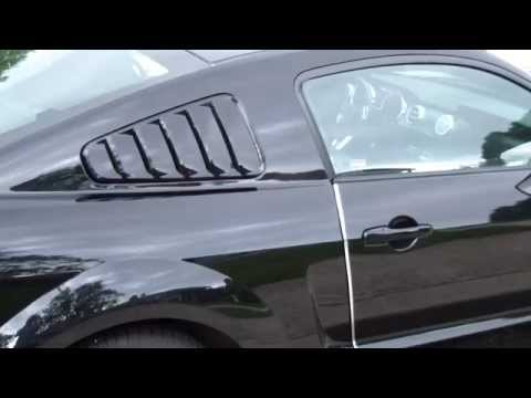 How To Add Install Quarter Window MMD Louvers on Ford Mustang Car 2005-2019 DIY