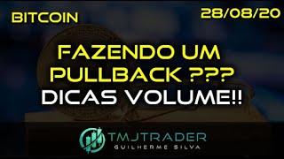 Análise Bitcoin - BTC - 28/08/2020 - FAZENDO UM PULLBACK ???DICAS VOLUME!!