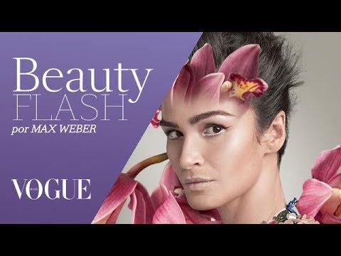 Deusa floral: Carol Ribeiro estrela novo episódio do Beauty Flash | TV Vogue