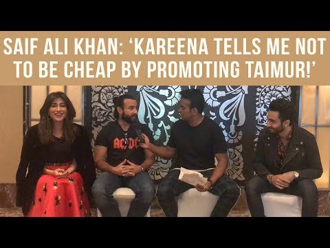 Saif Ali Khan: 'Kareena tells me not to be cheap by promoting Taimur!' #Bazaar
