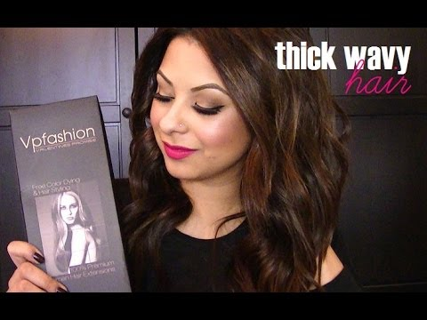 How To: Thick Wavy Hair (VP Fashion Extensions)