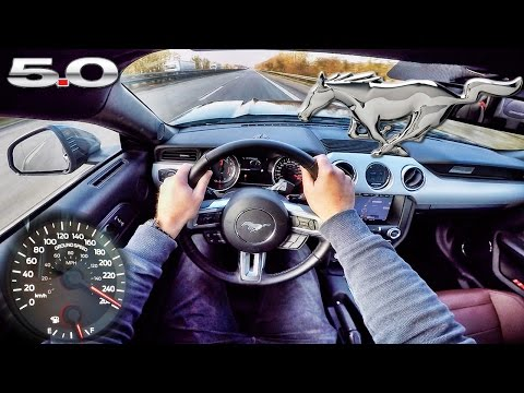 Ford Mustang GT 2017 ACCELERATION & TOP SPEED POV Autobahn Test Drive by AutoTopNL