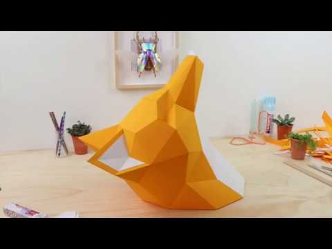 How to make a Paper Fox sculpture | Assembli Papercraft DIY