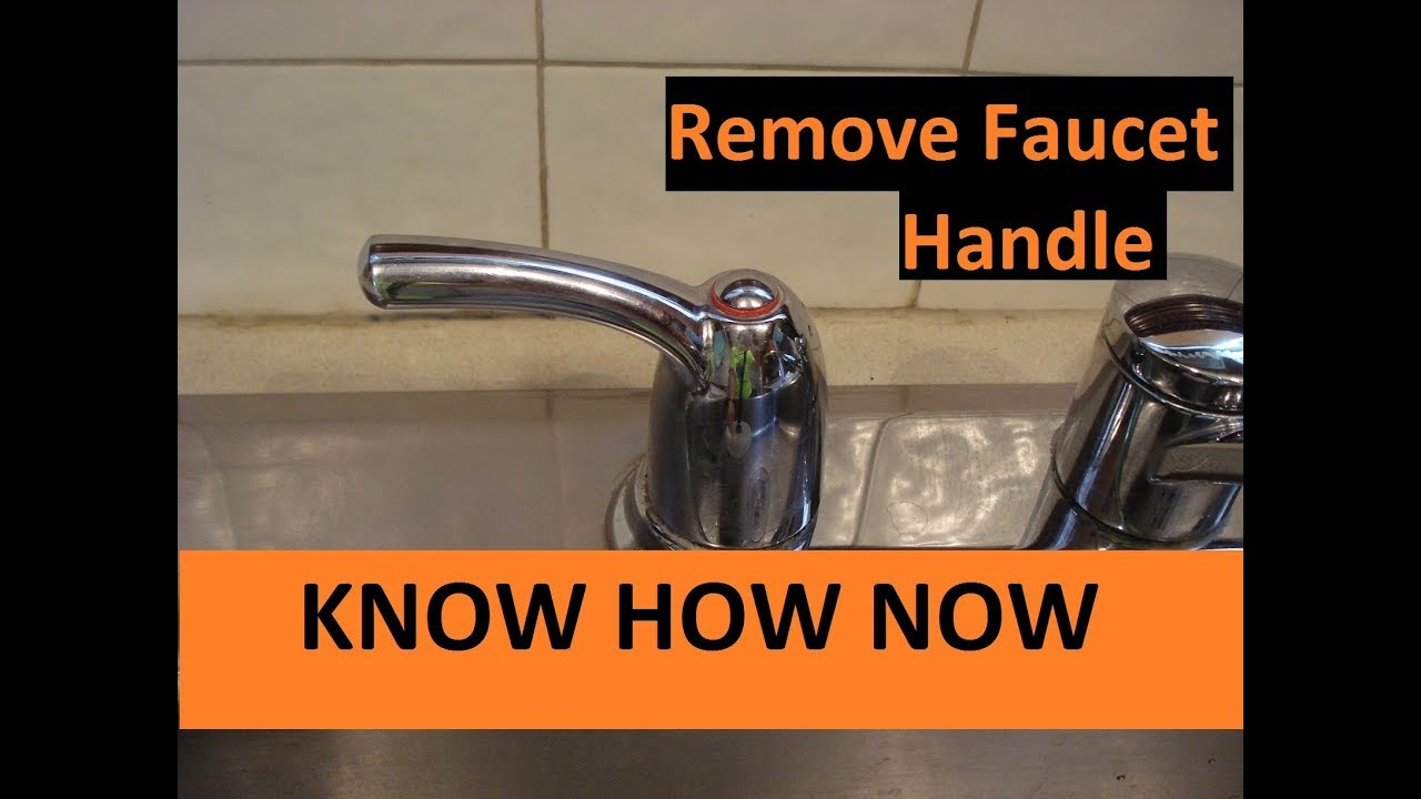 How to Remove a Faucet Handle - YouTube