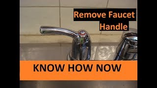 to remove faucet handle without screws