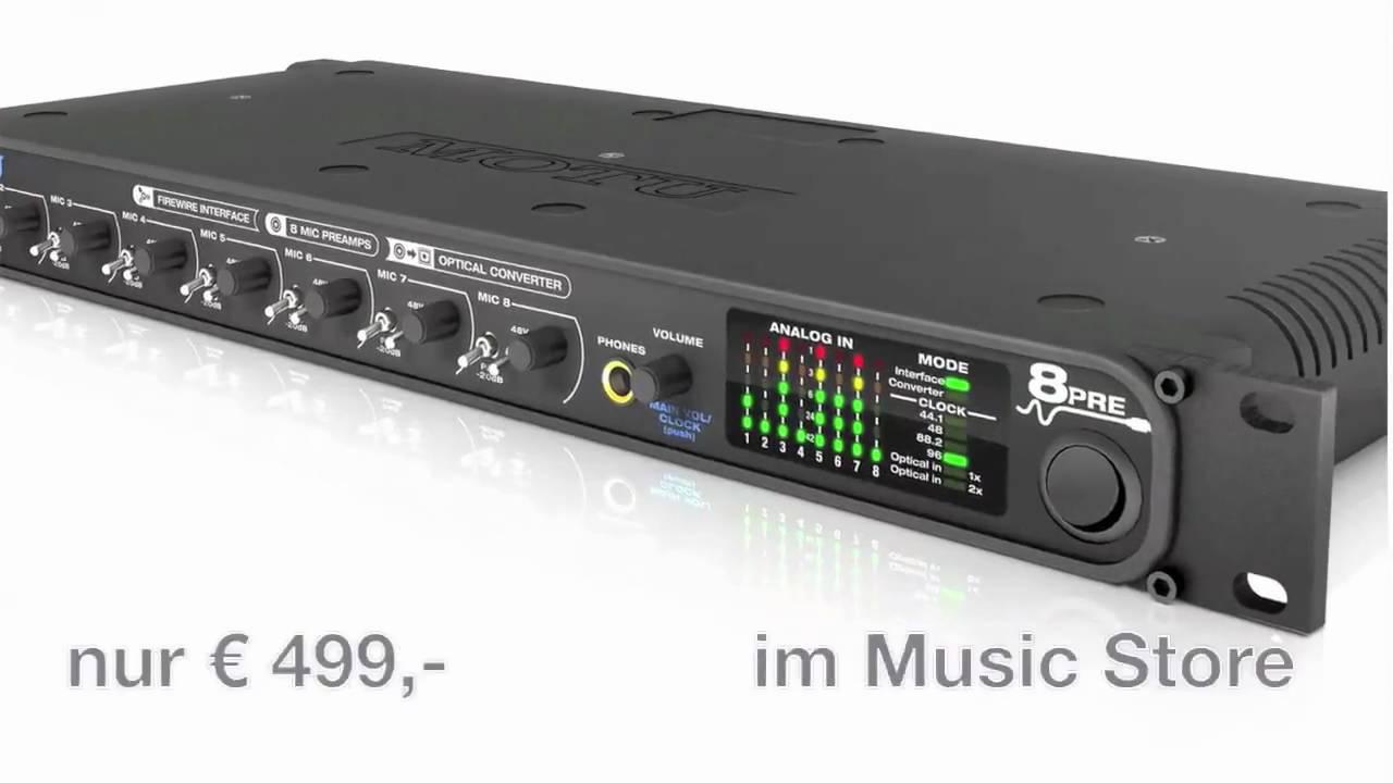 MOTU 8pre Firewire Audiointerface