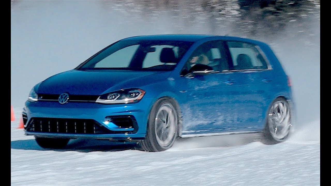 2018 vw golf r 4motion in the snow youtube. Black Bedroom Furniture Sets. Home Design Ideas
