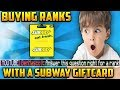 Buying Hypixel players RANKS with a SUBWAY GIFTCARD!