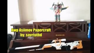AWP Asiimov - Papercraft #004 (Counter Strike Global Offensive)