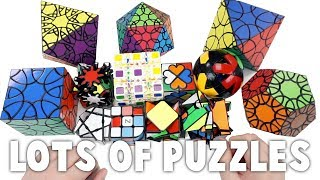 Huge Non-WCA Unboxing! Clover Puzzles, Fisher Wheel of Time, Twisty Skewb, and More! | TheCubicle.us