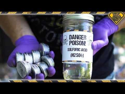 Thumbnail: Lead Ingots & Sulfuric Acid Scavenged From My Car Battery