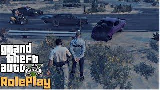 Gta 5 Roleplay - Smashed the Challenger In A Cop Chase - Ep. 194 - CV