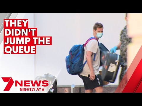 Authorities insist Australian cricketers didn't jump the COVID travel queue | 7NEWS