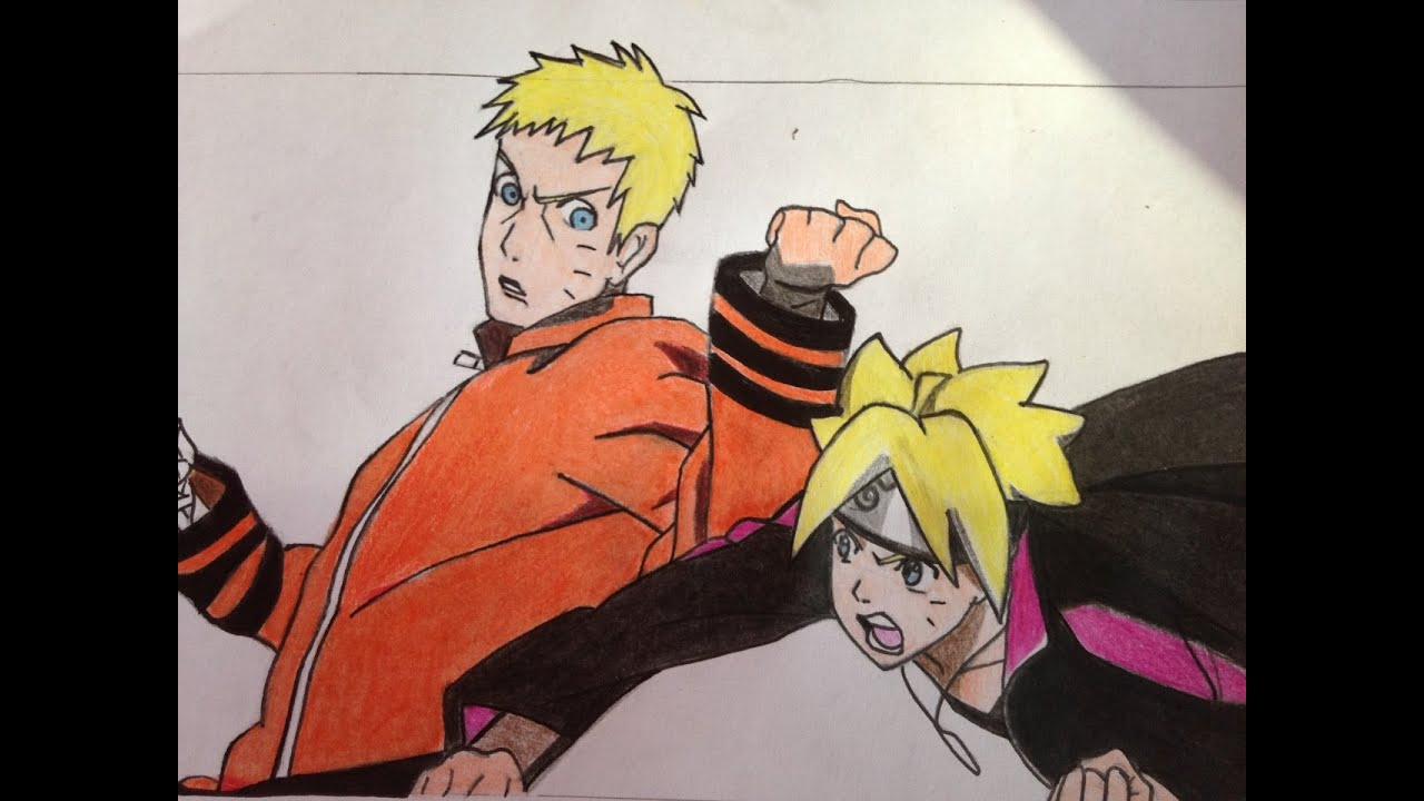 how to draw naruto and boruto sparing youtube
