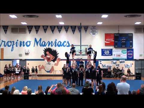 Orofino High School's Maniac Cheerleading team.wmv