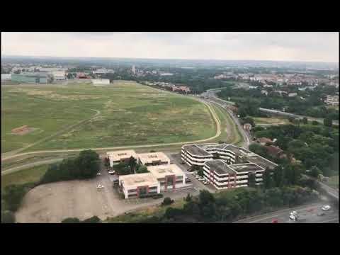 Landing at Toulouse-Blagnac Airport, France - June 2018