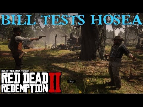 Red Dead Redemption 2 | Hosea holds Bill Williamson at Gunpoint