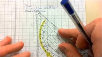 Geometrinen piirtäminen: Säännöllinen kuusikulmio