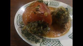 Болгарский перец фаршированный мясом   bell peppers stuffed with meat