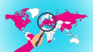 Ukázková animace - mapa světa