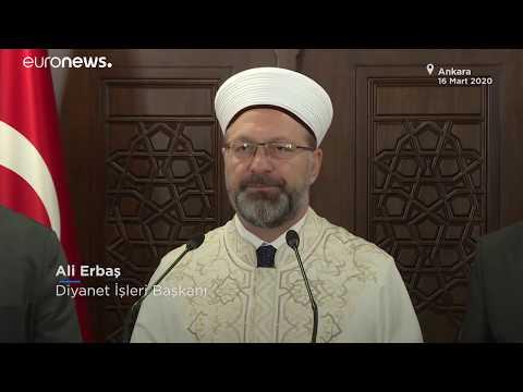 Canlı Anlatım   Türkiye'de son durum: Cuma namazı başta olmak üzere cemaatle namazlara ara veril…