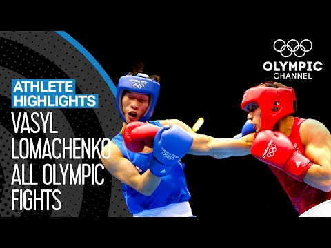 All Vasyl Lomachenko 🇺🇦 Olympic Boxing Bouts   Athlete Highlights