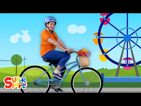 I Like To Ride My Bicycle | Nursery Rhymes From Caitie's Classroom