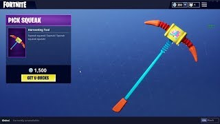 COMMENT GET THE PICK SQUEAK PICKAXE IN FORTNITE FOR FREE (WORKS IN GAME)