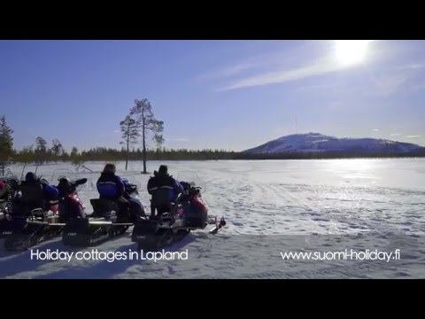 Finland cottages & cabins: Winter holidays in Lapland. Snowmobile safari.
